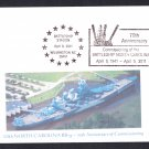 USS NORTH CAROLINA BB-55 70th Anniversary Naval Cover MhCachets ONLY 8 MADE