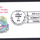 USS GEORGE WASHINGTON SSBN-598 1st Polaris Missile Patrol Anv Naval Submarine Cover ONLY 8 MADE