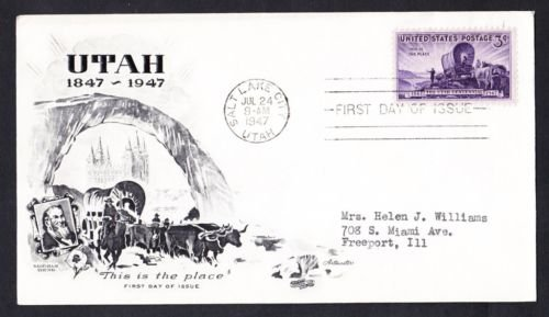 #950 UTAH STATEHOOD Stamp First Day Cover