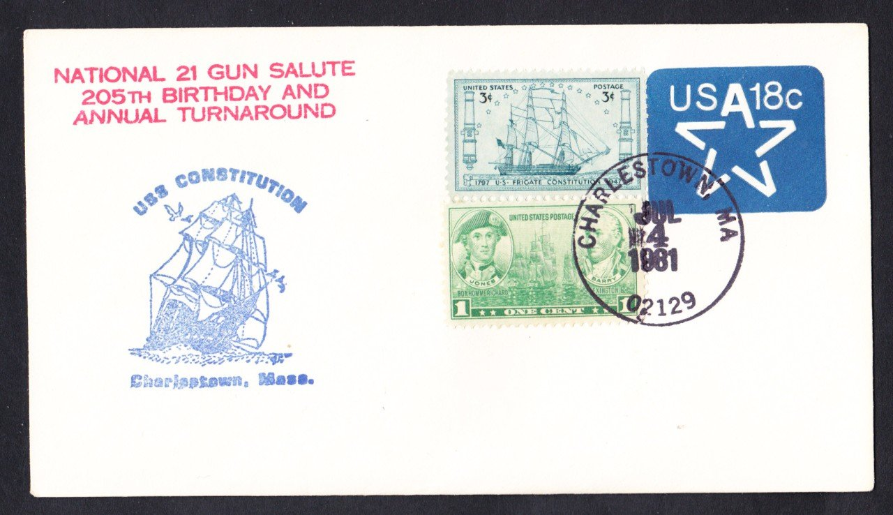 USS CONSTITUTION Annual Turn Around Cruise 1981 Naval Cover