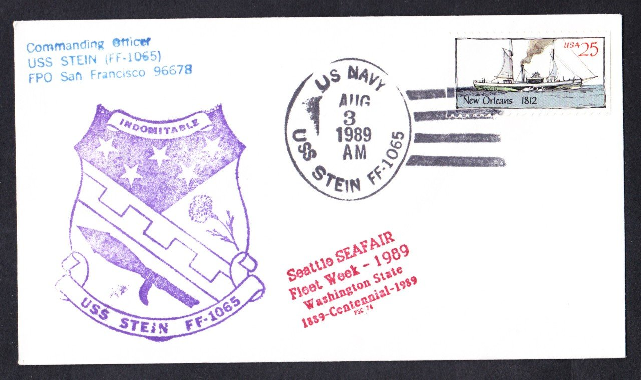USS STEIN FF-1065 Seattle Seafair Fleet Week Naval Cover
