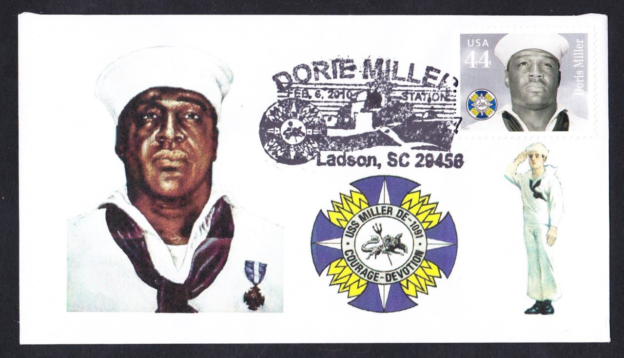 Famous Black Sailor DORIE MILLER Commemorative Naval Cover