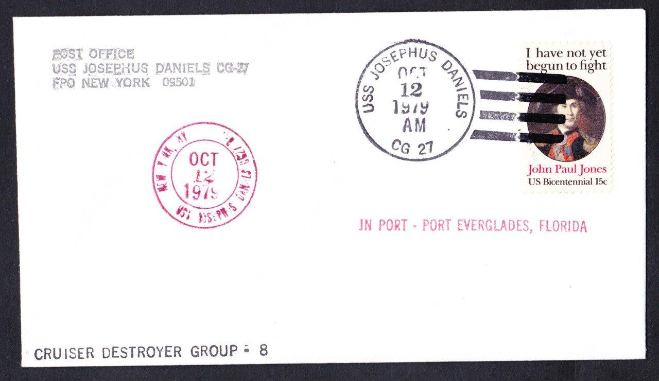 USS JOSEPHUS DANIELS CG-27 Port Everglades FL Naval Cover