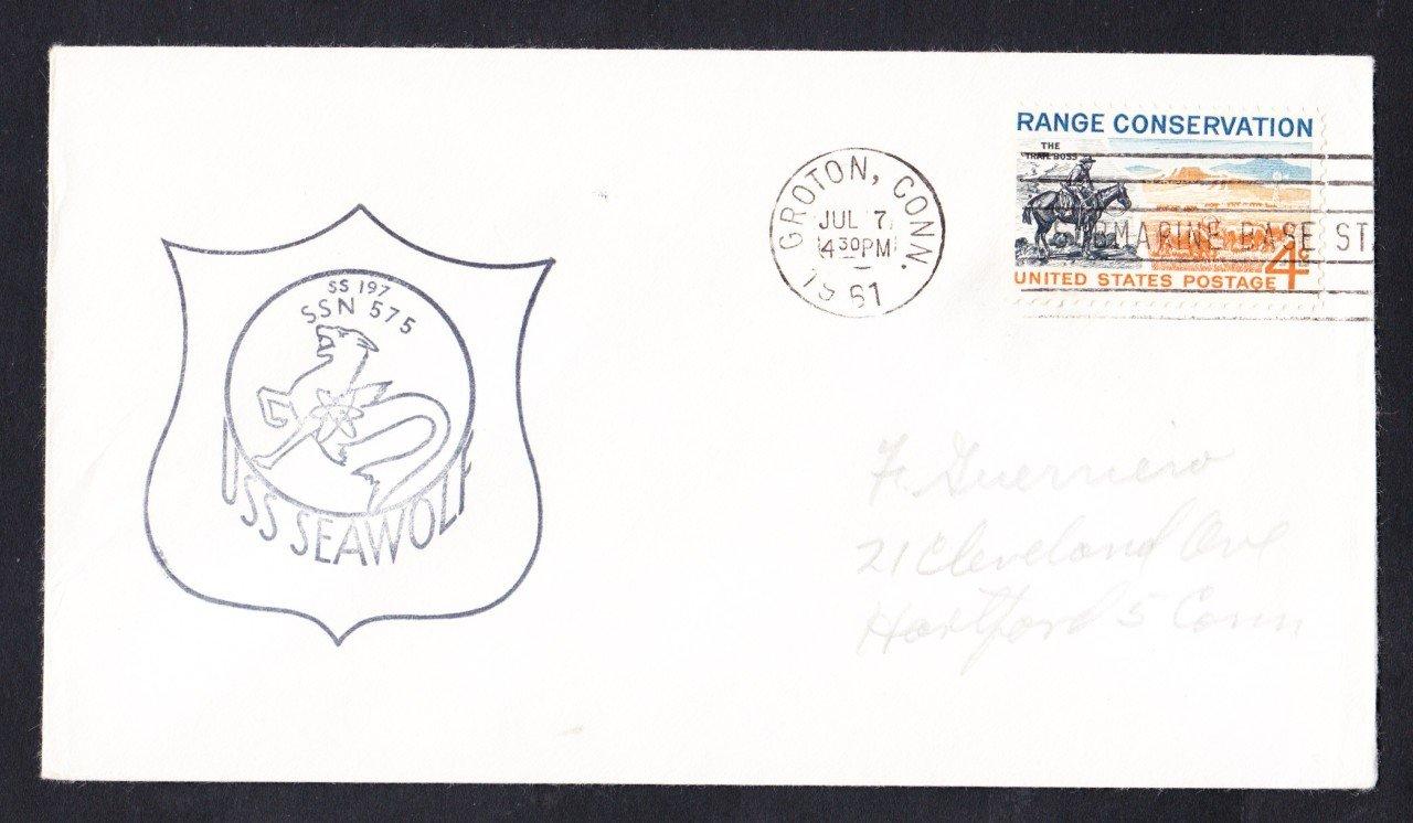 USS SEAWOLF SSN-575 1961 Naval Submarine Cover