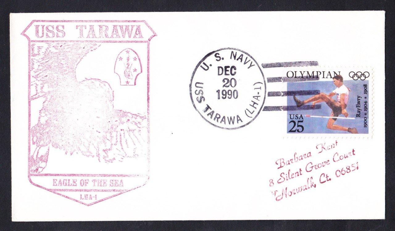 USS TARAWA LHA-1 Ship's Cachet Naval Cover