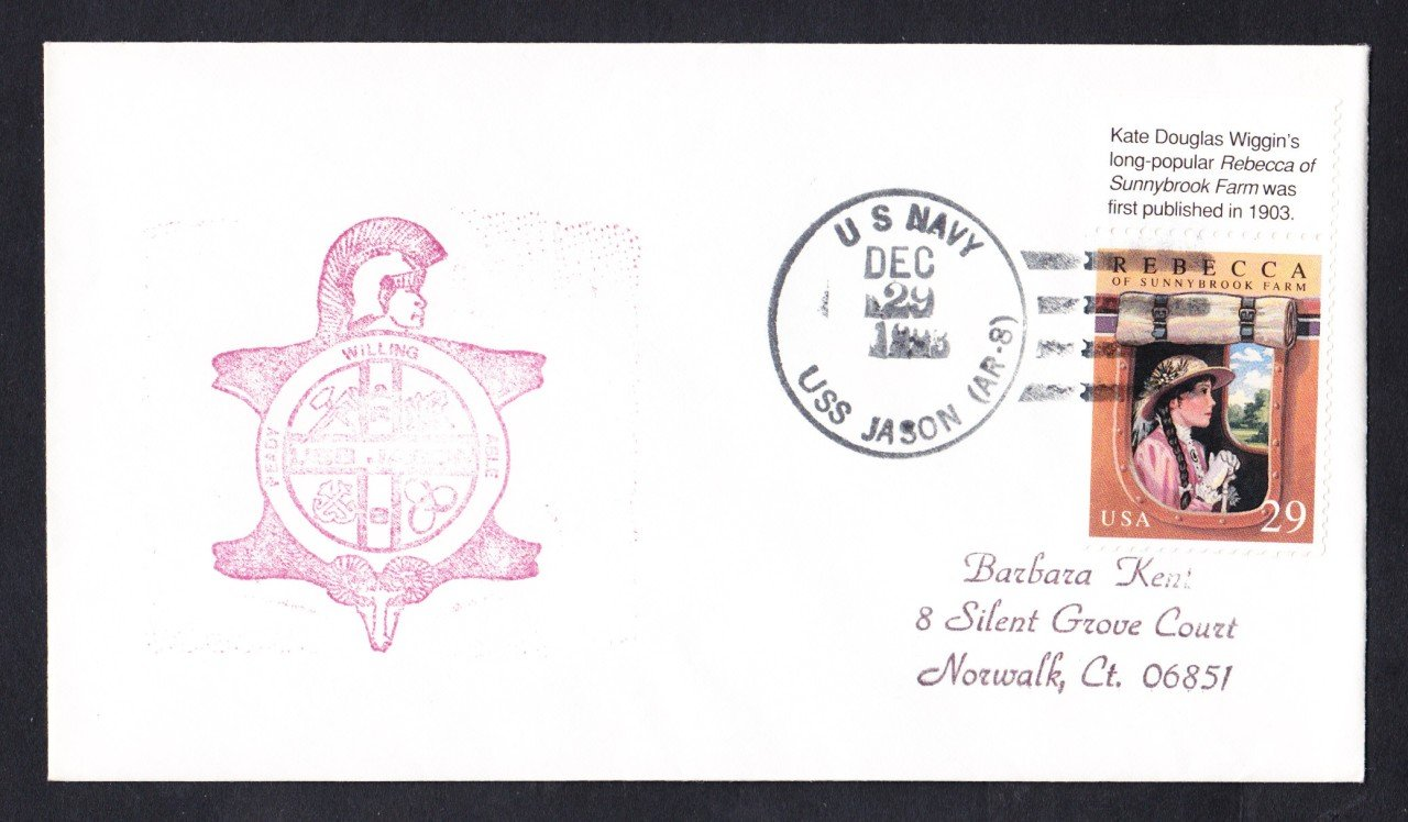 USS JASON AR-8 Ship's Cachet Naval Cover