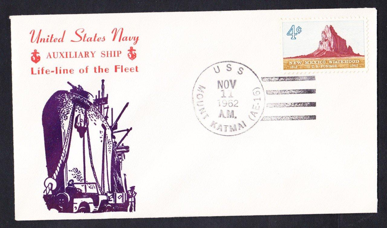 USS MOUNT KATMAI AE-16 Naval Cover