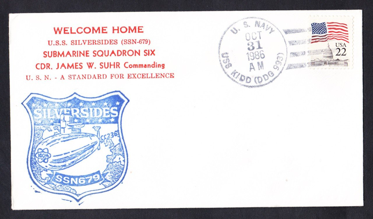 USS SILVERSIDES SSN-769 Welcome To Norfolk Naval Submarine Cover