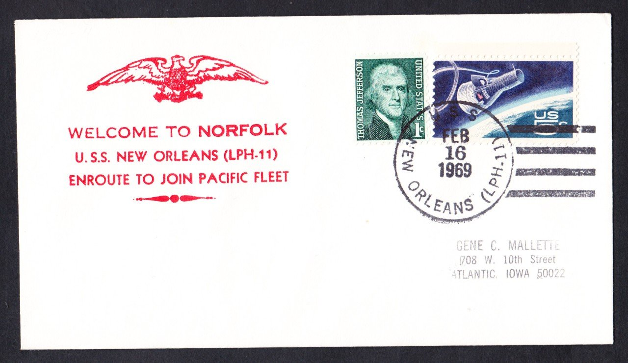 USS NEW ORLEANS LPH-11 Pacific Deployment Nicholson Naval Cover