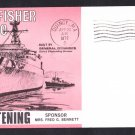 USS FORT FISHER LSD-40 Christening Naval Cover