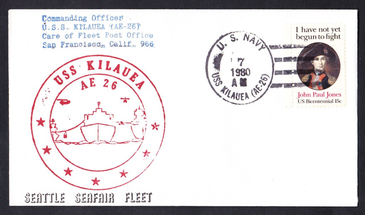 USS KILAUEA AE-26 Seattle Seafair Fleet Naval Cover