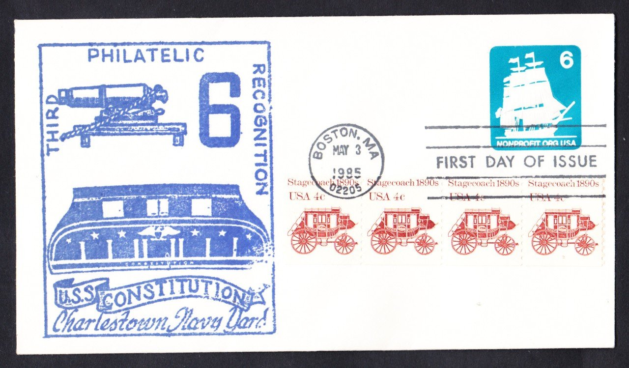 USS CONSTITUTION Stamped Envelope FDC Naval Cover