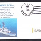 USS BARNEY DDG-6 Naval Cover MhCachets Only 1 Made