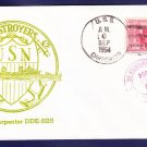 USS CARPENTER DDE-825 1954 Naval Cover