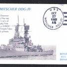 USS MITSCHER DDG-35 Naval Cover MhCachets Only 1 Made