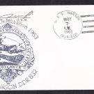 USS HANSON DDR-832 WWII Battle of Coral Sea Anniversary Naval Cover