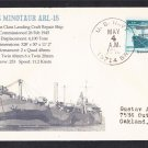 USS MINOTAUR ARL-15 1946 BR# Cancel Naval Cover MhCachets Only 1 Made