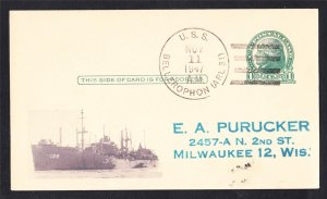 USS BELLEROPHON ARL-33 1947 Naval Cover MhCachets Only 1 Made