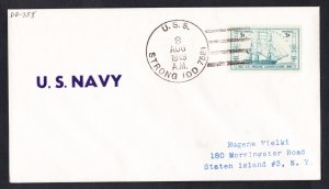 USS STRONG DD-758 1949 Naval Cover