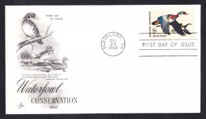 #1362 WATERFOUL CONSEVATION Stamp First Day Cover