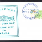 Paquebot Ship Cover M/V DONA PAZ Philippines