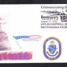 USS McCAMPBELL DDG-85 COMMISSIONING Naval Cover