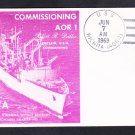 USS WICHITA AOR-1 COMMISSIONING Naval Cover