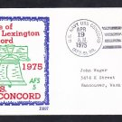 Stores Ship USS CONCORD AFS-5 Battle of Lexington & Concord BECK Naval Cover