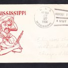 Battleship USS MISSISSIPPI BB-41 NAVY DAY 1936 Naval Cover