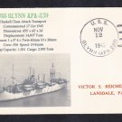 WWII Attack Transport USS GLYNN APA-239 1945 Naval Cover MhCachets ONLY 1 MADE