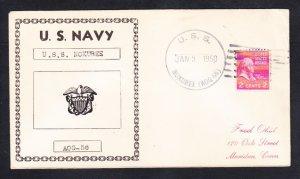 Gasoline Tanker USS NOXUBEE AOG-56 Fancy Cancel Naval Cover
