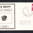 Cruiser USS ATLANTA CL-104 NAVY DAY 1948 Naval Cover