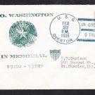 Destroyer USS OVERTON DD-239 George Washington's Birthday 1935 Naval Cover