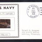 Destroyer USS McCAFFERY DD-860 Ship's Photo Cachet Naval Cover