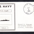 Guided Missile Destroyer USS GYATT DDG-1 Ship's Photo Cachet Naval Cover