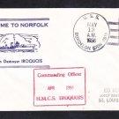 Canadian Navy Destroyer HMCS IROQUOIS Visit Norfolk VA 1956 Naval Cover