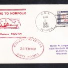 Canadian Navy Destroyer HMCS NOOTKA Norfolk VA 1960 Naval Cover