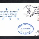 Canadian Navy Destroyer Escort HMCS MARGAREE Visit Norfolk VA 1969 Naval Cover