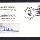 Battleship USS VERMONT BB-29 Commemorative Naval Cover