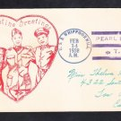 Minesweeper USS WHIPPOORWILL AM-35 Valentine's Day Fancy Cancel Naval Cover
