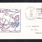 USS REINA MERCEDES IX-25 Columbus Day US Naval Academy Annapolis Naval Cover
