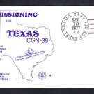 Nuclear Powered Cruiser USS TEXAS CGN-39 COMMISSIONING Naval Cover
