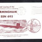 Submarine USS BIRMINGHAM SSN-695 KEEL LAYING Naval Cover