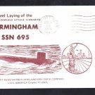 Submarine USS BIRMINGHAM SSN-695 KEEL LAYING Naval Cover