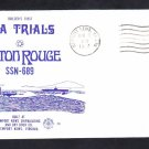 Submarine USS BATON ROUGE SSN-689 SEA TRIALS NSC Cachet Naval Cover