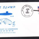 Submarine USS SCAMP SSN-588 COMMISSIONING Anniversary Naval Cover