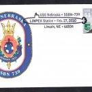 Submarine USS NEBRASKA SSBN-739 Pictorial Submarine Postmark Naval Cover
