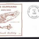 Submarine USS GURNARD SSN-662 COMMISSIONING Anniversary Naval Cover