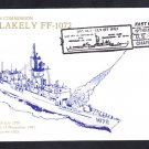 Frigate USS BLAKELY FF-1072 DECOMMISSIONING Cachet Naval Cover