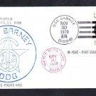 Guided Missile Destroyer USS BARNEY DDG-6 Port Everglades FL Naval Cover
